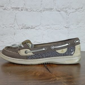 Sperry Top-Sider sequin/leather shoe in size 5.5M